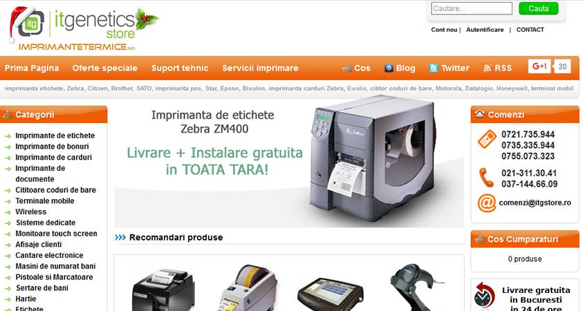 Screenshot website vechi ITG